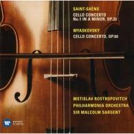 Mstislav Rostropovich (Мстислав Ростропович): Miaskovsky: Cello Concerto, Op. 66. Saint-Saens: Cello Concerto No. 1, Op. 33
