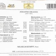 Wilhelm Kempff (Вильгельм Кемпф): Brahms: Fantasias Op.116; Intermezzi Op.117; Piano