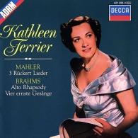 Mahler: 3 Ruckert Lieder/  Brahms: Alto Rhapsody