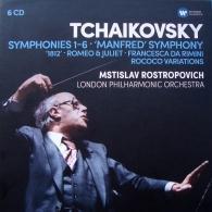Mstislav Rostropovich (Мстислав Ростропович): Symphonies 1-6, Manfred Symphony, Francesca Da Rimini, Romeo And Juliet Fantasy Overture, 1812, Rococo Variations