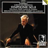 """Herbert von Karajan (Герберт фон Караян): Beethoven: Symphony No.8; Overtures: """"Coriolan"""", """""""