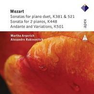 Martha Argerich (Марта Аргерих): Piano Duets, Kv 448, 501, 521, 381