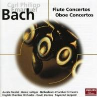 Heinz Holliger (Хайнц Холлигер): Bach, C.P.E.: Concertos for Flute and Oboe