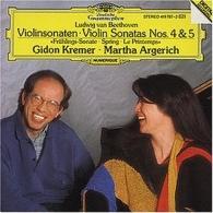 "Gidon Kremer (Гидон Кремер): Beethoven: Violin Sonatas Nos.4 & 5 ""Spring"""