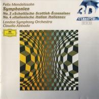 Claudio Abbado (Клаудио Аббадо): Mendelssohn: Symphonies Nos.3 & 4