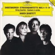 Hagen Quartett (Квартет Хаген): Shostakovich: String Quartets Nos.4, 11 & 14