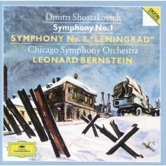 "Leonard Bernstein (Леонард Бернстайн): Shostakovich: Symphonies Nos.1 & 7 ""Leningrad"""