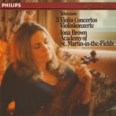 Iona Brown (Элизабет Айона Браун): Telemann: Five Violin Concertos
