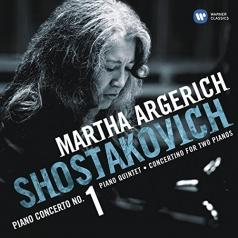 Martha Argerich: Piano Concerto No. 1 For Piano, Trumpet & Strings, Op. 35. Concertino For Two Pianos, Op. 94. Piano Quintet, Op. 57