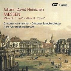 Hans-Christoph Rademann: Heinichen, Johann David - Messen Nr. 11 & 12 - Dresdner Kammerchor, Dresdner Barockorchester, Hans-Christoph Rademann