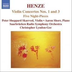 Saarbrucken Radio Symphony Orchestra (Оркестррадиои телевиденияСаарбрюккена): Henze:Violin Concertos Nos.1&3
