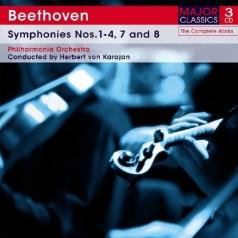 Beethoven. Symphonies No. 1-4, 7 And 8 (Philarmonia Orchestra. Conducted By Herbert Von Karajan)