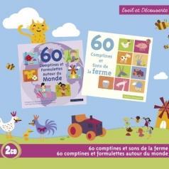 60 Comptines Et Sons De La Ferme / 60 Comptines Et Formulettes Autour Du Monde