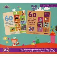 60 Comptines Pour Mieux Parler Et Prononcer / 60 Comptines Et Formulettes Pour Creches Vol 2