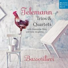 Bassorilievi: Telemann: Trios & Quartets With Transverse Flute & Viola Da Gamba