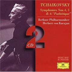 "Herbert von Karajan (Герберт фон Караян): Tchaikovsky: Symphonies Nos.4, 5 & 6 ""Path?tique"""