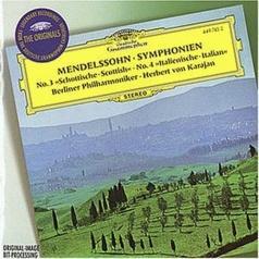 "Herbert von Karajan (Герберт фон Караян): Mendelssohn: Symphonies Nos.3 ""Scottish"" & 4 ""Ital"