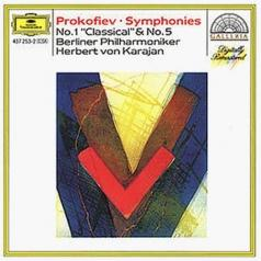 "Herbert von Karajan (Герберт фон Караян): Prokofiev: Symphonies Nos.1 ""Classical"" & 5"