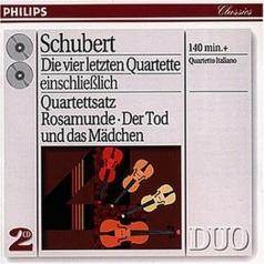 Quartetto Italiano (Итальянский квартет): Schubert: The Last Four Quartets - Death and the M