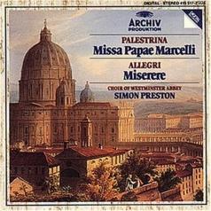 Simon Preston (Саймон Престор): Palestrina: Missa Papae Marcelli/ Allegri: Misere
