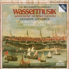 Reinhard Goebel (Рейнхард Гёбель): Telemann: Water Music / 3 Concertos