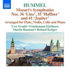 Symphonies • 2: Nos. 35 'Haffner', 36 'Linz' And 41 'Jupiter' (Arr. J.N. Hummel For Flute, Violin, Cello And Piano)