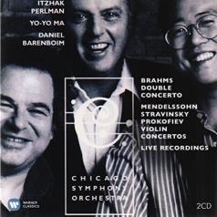 Erato & Teldec Recordings: Brahms Double Concerto, Mendelssohn Stravinsky Prokofiev Concertos - Perlman, Ma, Barenboim