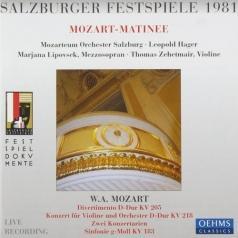Violin Concerto No. 4. Symphony No. 25. Divertimento No. 7 K205