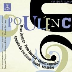 Conc. For Organ, Strings & Timpani, Litanies Vierge Noire, Piano Conc., Concert Champetre, Conc. 2 Pianos, Aubade, Les Biches