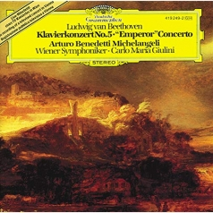 "Arturo Benedetti Michelangeli (Артуро Бенедетти Микеланджели): Beethoven: Piano Concerto No. 5 in E-Flat Major, Op. 73 ""Emperor"""