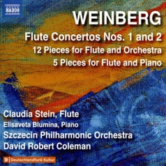 Mieczyslaw Weinberg: Complete Works For Flute: Flute Concertos Nos. 1 And 2, 12 Pieces For Flute And Orchestra, 5 Pieces For Flute And Piano