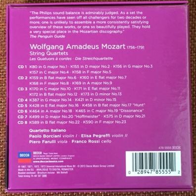Quartetto Italiano (Итальянский квартет): Mozart: The String Quartets