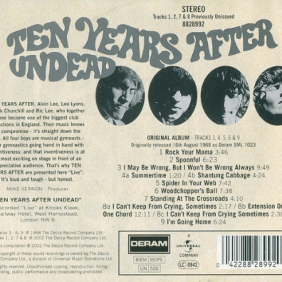 Ten Years After (Тен Ерс Афтер): Undead
