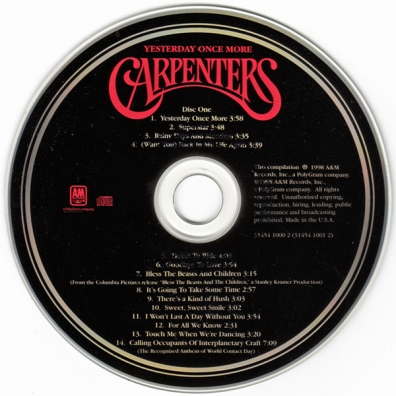 The Carpenters: Yesterday Once More-Greatest Hits 1969-1983