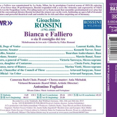 Gioachino Rossini (Джоаккино Россини): Bianca E Falliero