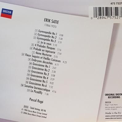 Pascal Rogé: Satie: Piano Music