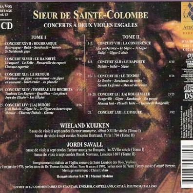 Sieur De Sainte-Colombe: Concerts A Deux Violes Esgales