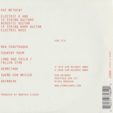 Pat Metheny (Пэт Метени): New Chautauqua