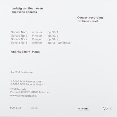 Beethoven/The Piano Sonatas Volume 2 Sonatas Opp. 10 And 13