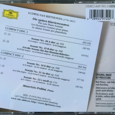 Maurizio Pollini (Маурицио Поллини): Beethoven: Late Piano Sonatas