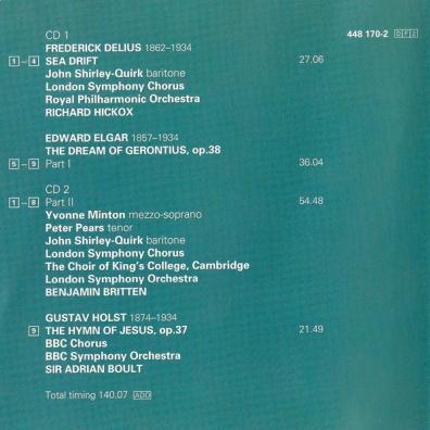 Benjamin Britten (Бенджамин Бриттен): Elgar: The Dream of Gerontius/Delius: Sea Drift/Ho