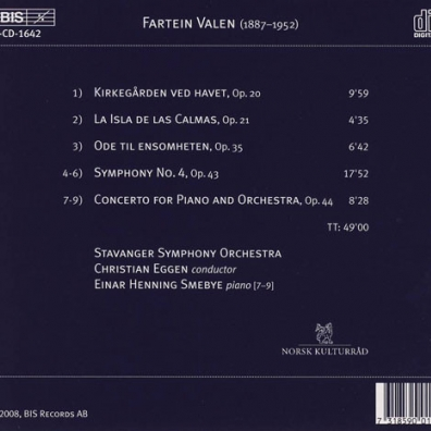 Fartein Valen (Фартейн Вален): Complete Orchestra Works Vol 2: Symphony No. 2 & No. 3; An Die Hoffnung; Epithalamion; Nenia