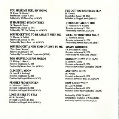Frank Sinatra (Фрэнк Синатра): Songs For Swingin' Lovers