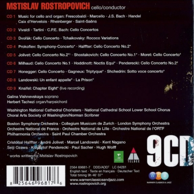 Mstislav Rostropovich (Мстислав Ростропович): Mstislav Rostropovich Plays Cello Works