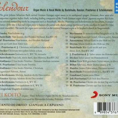 Splendour -Organ Music & Vocal Works By Buxtehude, Hassler, Praetorius & Scheidt