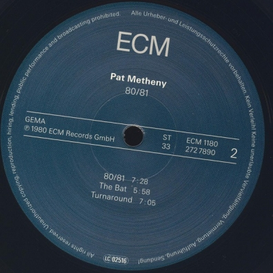 Pat Metheny (Пэт Метени): 80/81