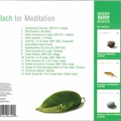 Johann Sebastian Bach (Иоганн Себастьян Бах): Bach For Meditation