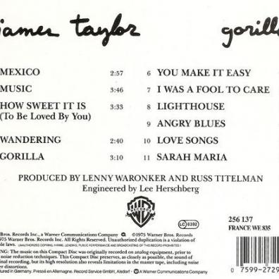 James Taylor (Джеймс Тейлор): Gorilla
