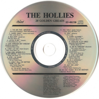 The Hollies (Зе Холлиес): 20 Golden Greats