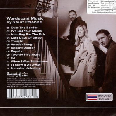 Saint Etienne: Words And Music By Saint Etienne